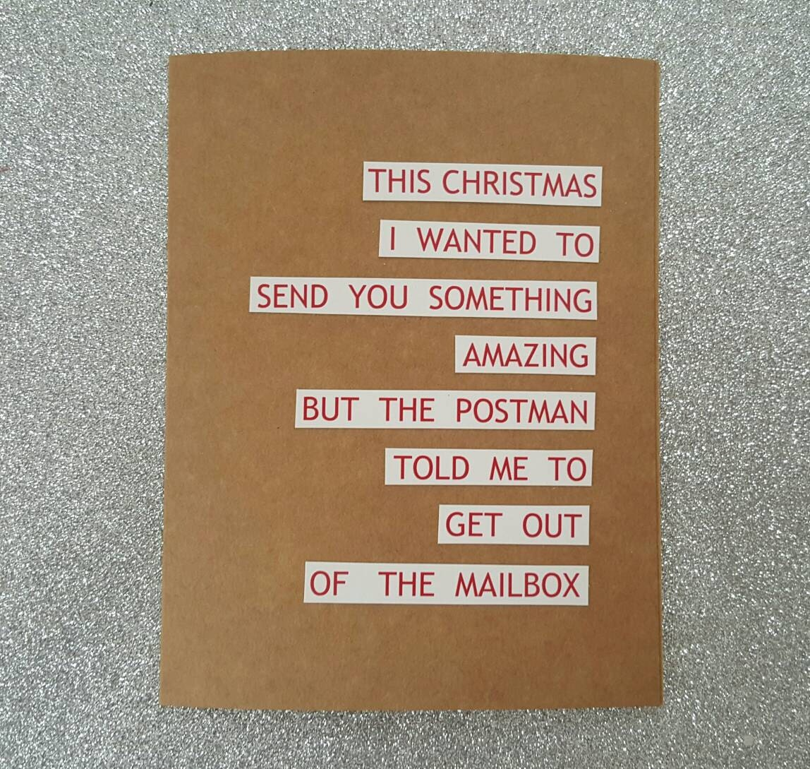 Funny Christmas Card Funny Holiday Card Humorous Christmas Etsy