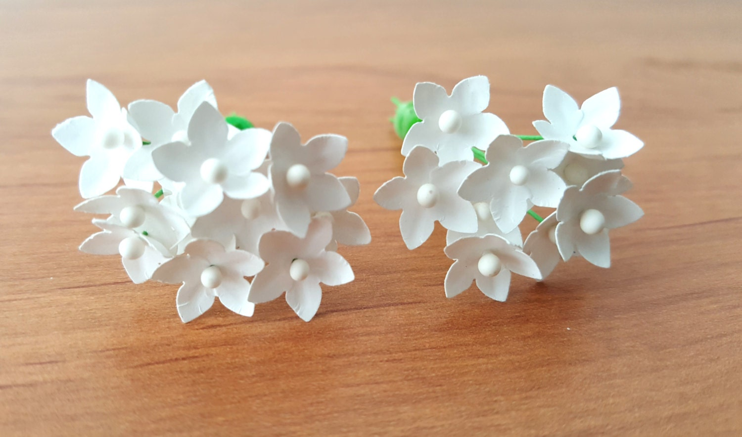 Small paper flowers set of 100 white paper flowers / tiny paper ...