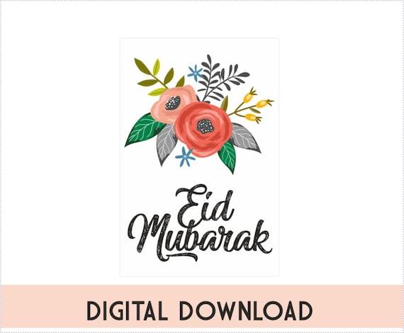 Eid Mubarak Tags Eid Mubarak Gift Tags Printable Eid Etsy