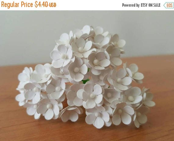 White paper flowers set of 75 small white flowers paper etsy image 0 mightylinksfo