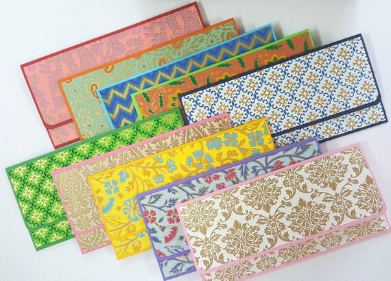 Set of 15 Gift EnvelopesIndian Wedding favors  indian gift envelopes  assorted envelopes  money envelopes  cash envelope