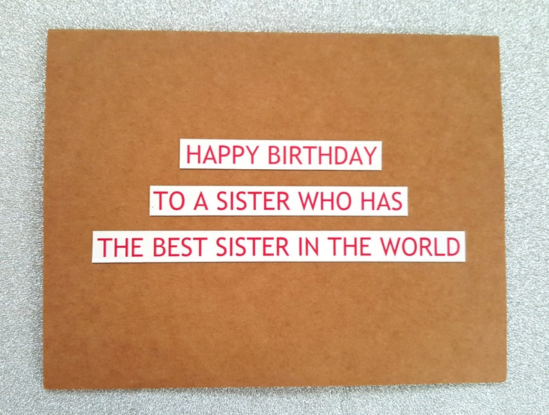 Funny Birthday Card For Sister
