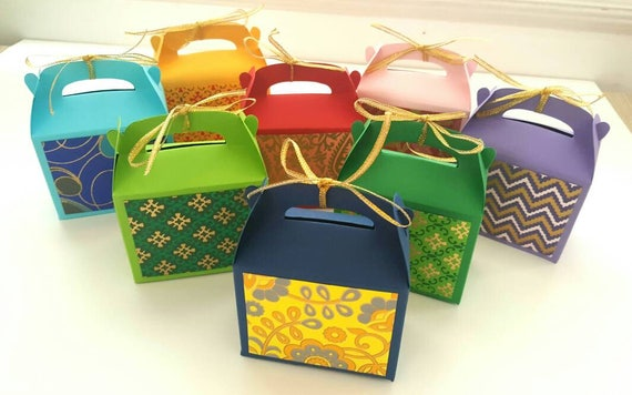 Indian Wedding Favor Boxes Indian Wedding Favors Wedding Etsy