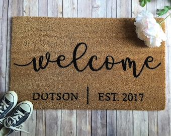 Customized Doormats And Home Decor By Emmiloudesignco On Etsy