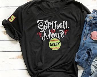51b6bbc9 Softball Mom Shirt, Softball Mom Plus Size Shirt, Custom Softball Mom Shirt,  Bling Softball Mom Shirt, Softball Mom Birthday