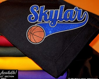 a0d1e3c4127 Basketball Player Blanket with Custom Name and Number