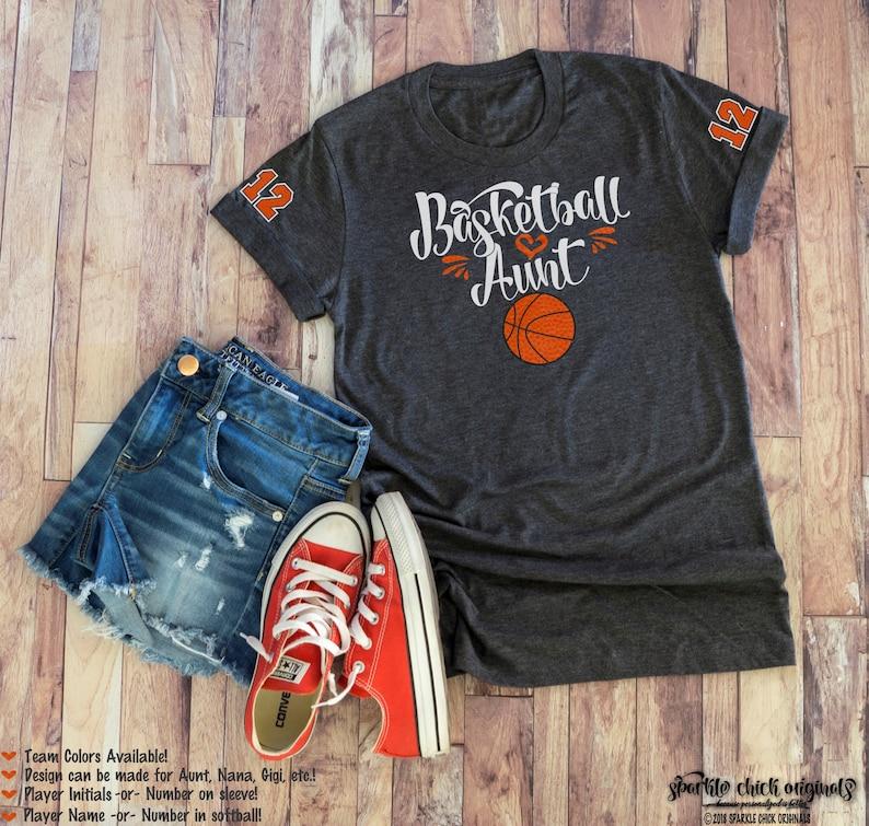 b2b98edda31 Basketball Aunt GLITTER VINYL Shirt Basketball Aunt Plus Size