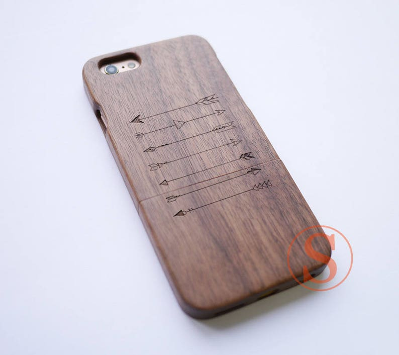 quality design 79097 6472f Wood iPhone 7 case, Arrows iPhone 7 Plus case, Wooden iPhone 8 case, iPhone  X case, Wood iPhone case, Carved Wood phone case, DK-28
