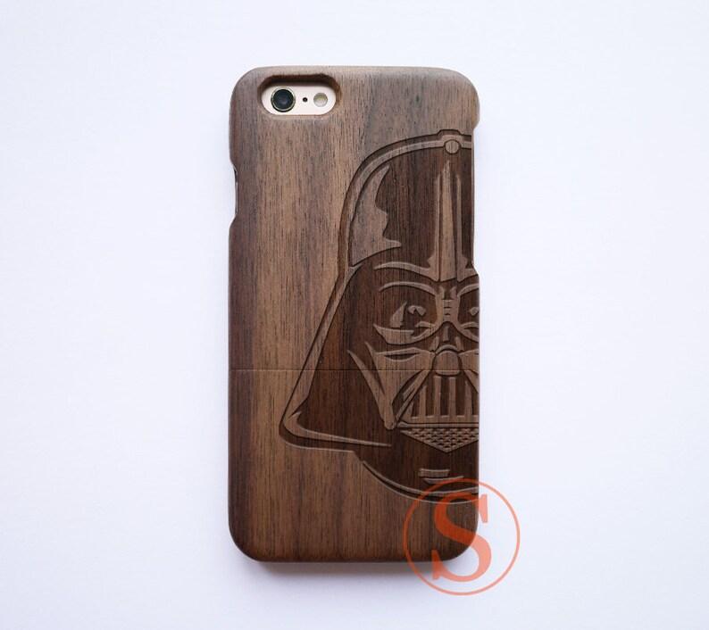 quality design 73a8b 02cb7 Wood iPhone 7 case, Darth Vader iPhone 7 Plus case, Wooden iPhone 8 case,  iPhone X case, Wood iPhone case, Carved Wood phone case, DK-132