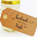 Handmade With Love Stamp - Handmade for You Stamp -  Stamp for handmade items