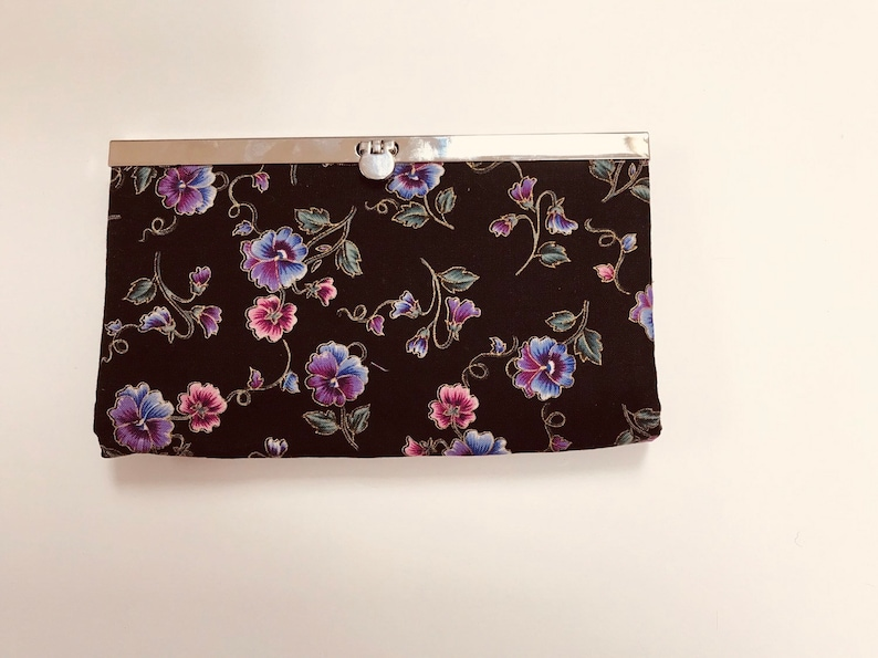 Women Wallet Quilted paisley holds MANY credit cards