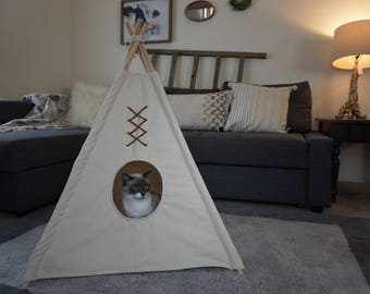 Original Pet teepee in S/M with hole entrance,pet friendly designed ,dog teepee, cat teepee
