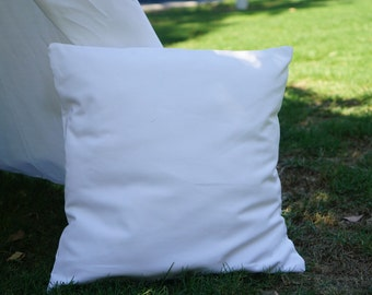 Plain white canvas pillow cover