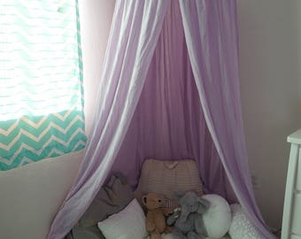 Play canopy in lavender/ hanging tent/ reading nook canopy/hanging canopy