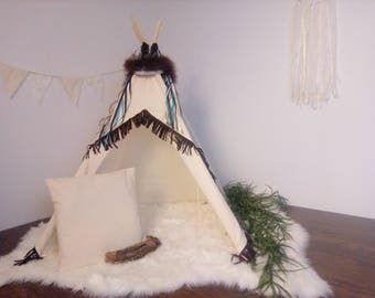 S Wild toddler teepee/ photo prop tent / Kids play tent/ baby teepee photo prop