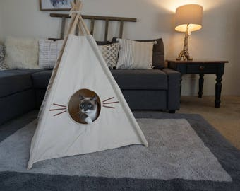 Whisker cat teepee in S/M with door entrance,pet friendly designed ,dog teepee, cat teepee
