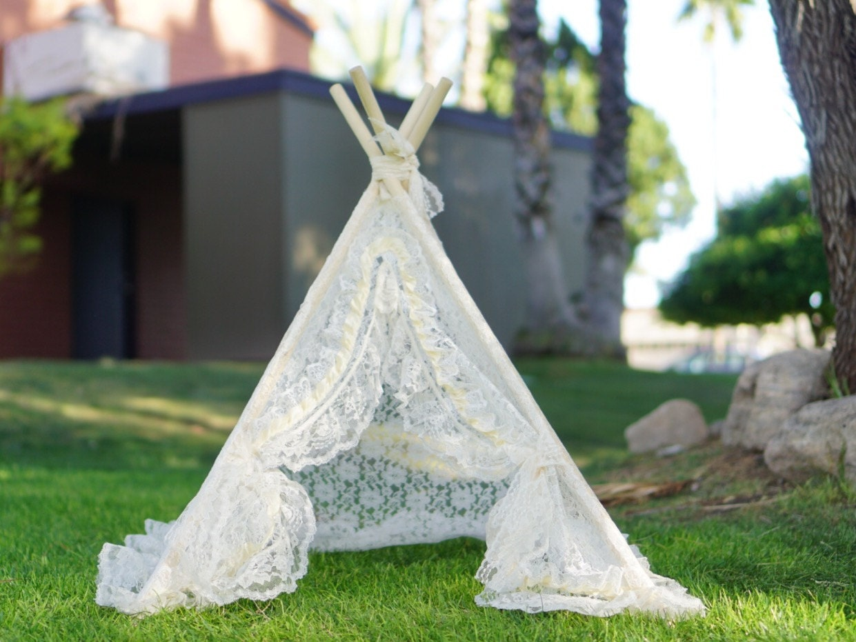 Xs 3ft Lacey Newborn Teepee Photo Prop Tent Infant Lace