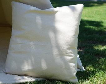 Plain nature canvas pillow cover