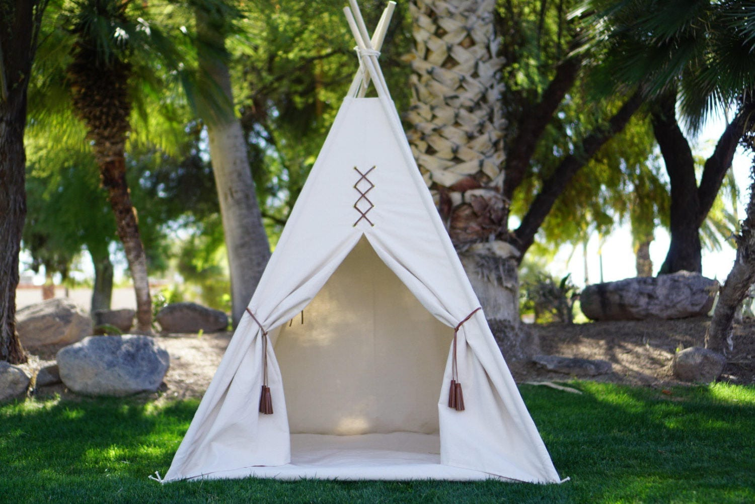 Original Teepee Kids Teepee With Nature Canvas And
