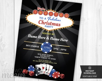 Las Vegas Invitation Etsy