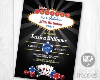 Vegas Invitation Etsy