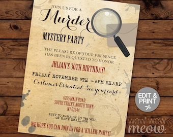 Dinner Party Invite Etsy