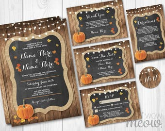 Fall wedding invites Etsy