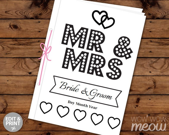 Wedding Coloring Book Children's Activity Sheets Booklet ...