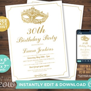 Digital Delivery Quincea\u00f1era Invite Personalize Masquerade Ball Invitation Teal Sweet 16 Party