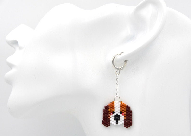 Miyuki Earrings Dog Jewelry Beagle Earrings