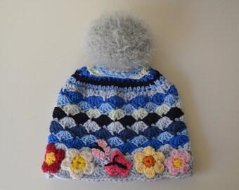 Fiore Cappello Neonato Etsy