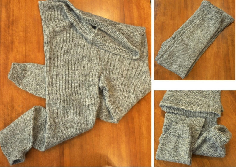 13bce1e6ab8 Woolen 3XL light gray unisex Trousers Pants   Tights