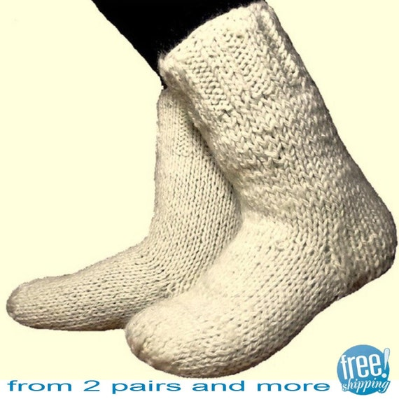 warm socks 26 28 cm foot length 10 3 11 inches pale white etsy. Black Bedroom Furniture Sets. Home Design Ideas