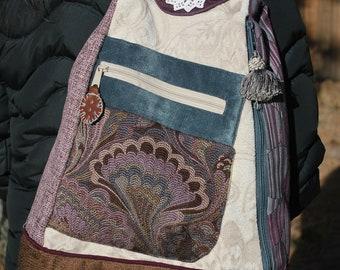 Convertible backpack/sling bag - HEATHER