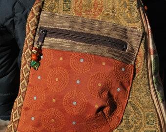 Convertible backpack/sling bag - SANDSTONE