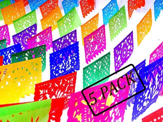 Papel Picado 60 Feet Mexican Theme Party Supplies Mexican Flag Banner Fiesta Decoration Papel Picado Banner Photo Backdrop Ws100