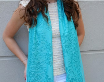 Mint lace day/evening shawl