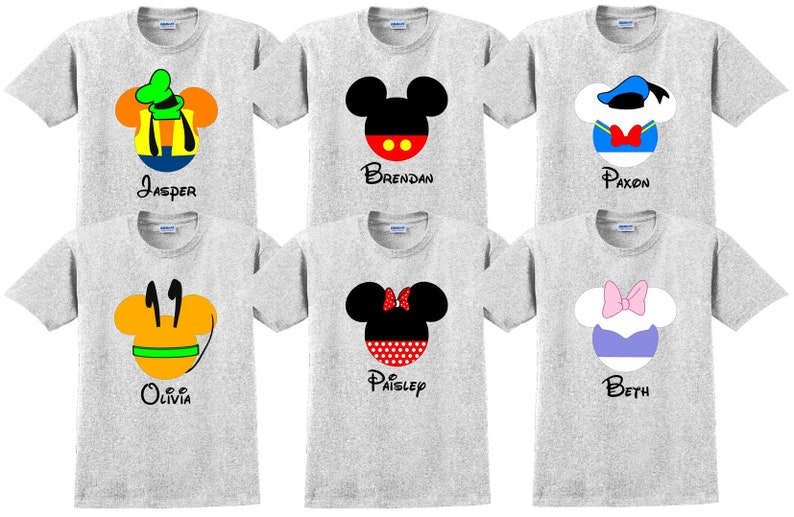 048888a1c Disney World Shirt MICKEY FRIENDS Disney Vacation Disney Group | Etsy