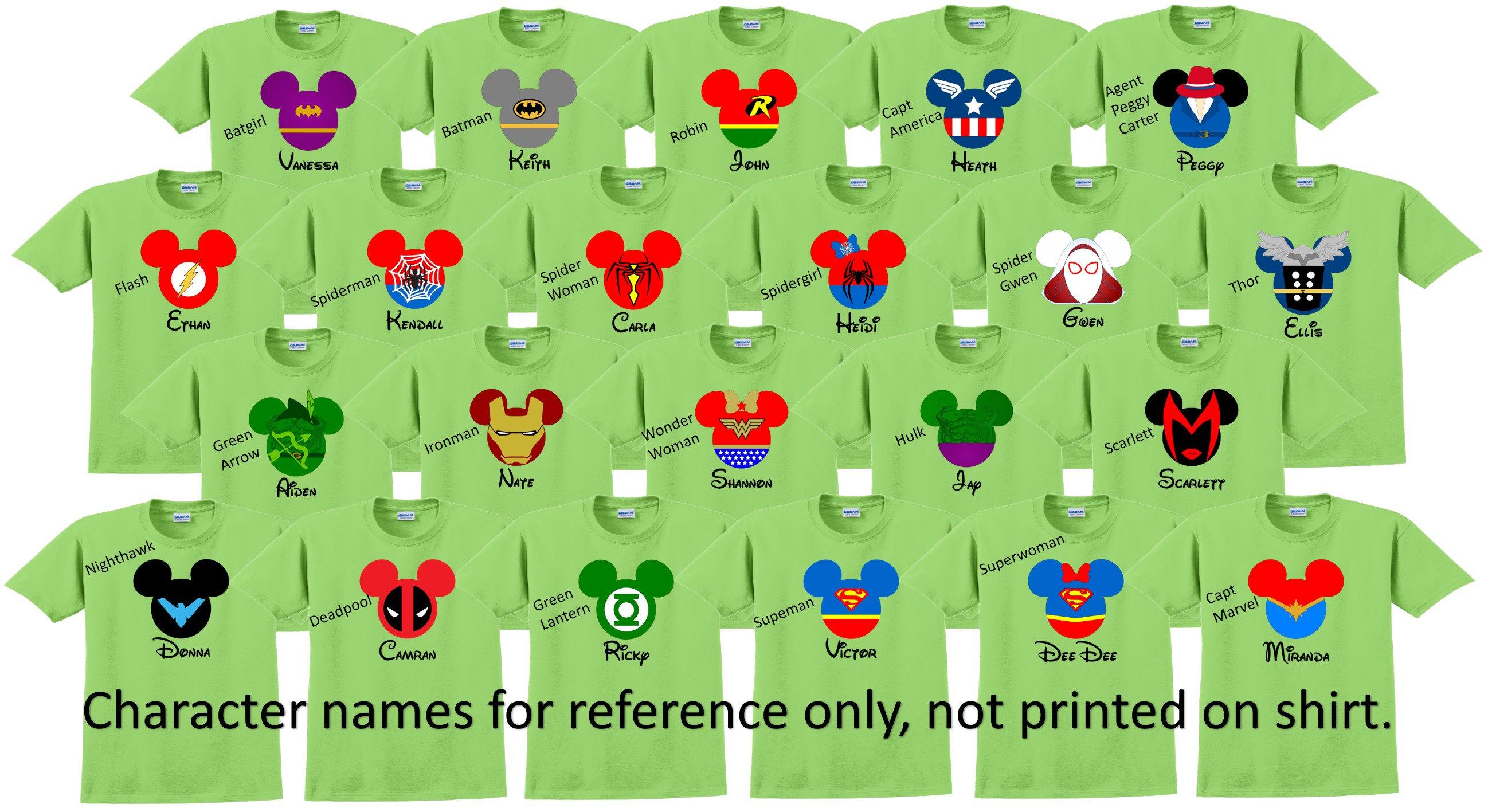 6635d165a4f06 Disney World Shirt SUPERHEROES Disney Vacation Disney Group Shirts Disney  Matching Shirts Disney Personalized Shirts Disney Family Shirts