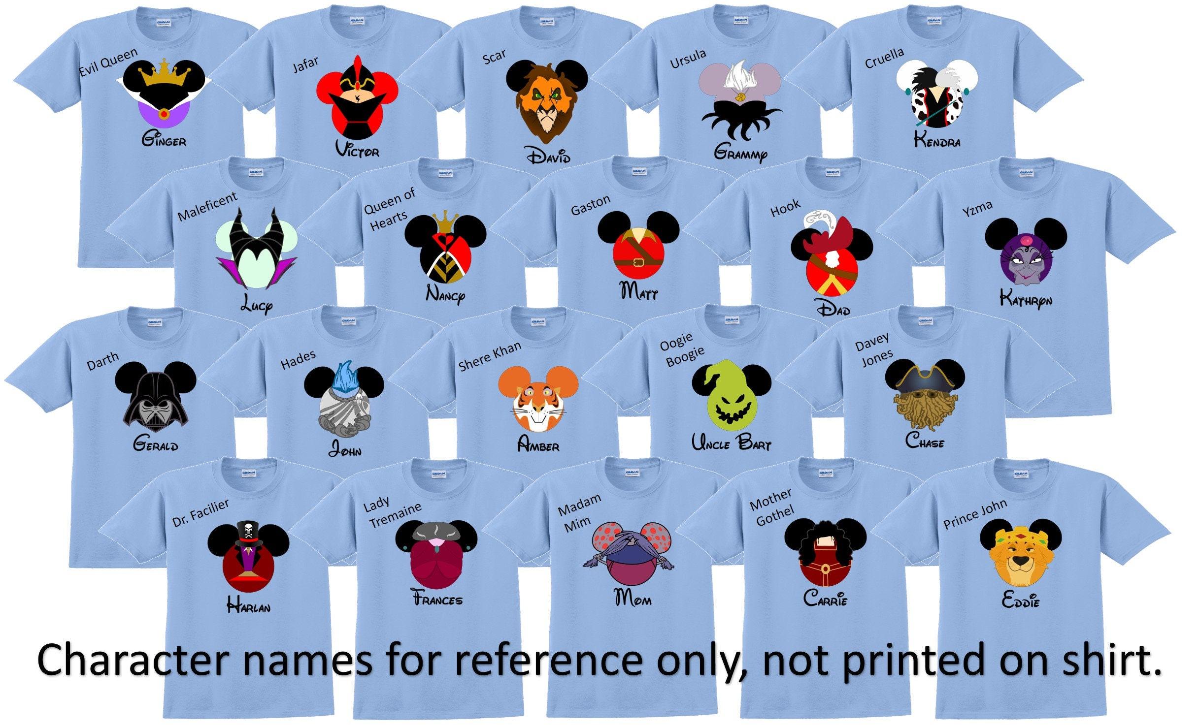 8f477f06aeafd Disney Shirt DISNEY VILLAINS Disney Vacation Disney Group Shirts Disney  Matching Shirts Disney Personalized Shirts Disney Family Shirts