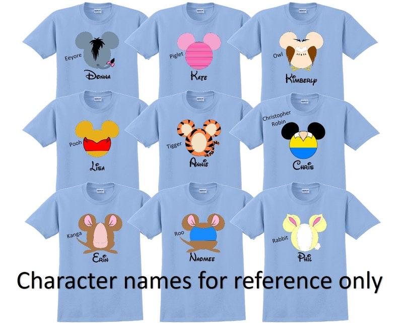 b3848e635 Disney Family Shirts WINNIE the POOH and FRIENDS Disney | Etsy