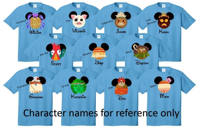 a5c36d88 MOANA Disney Shirt Disney Vacation Disney Group Shirts Disney | Etsy