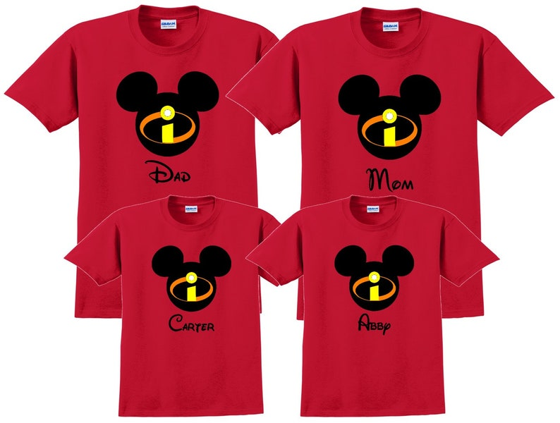 ee4045eb3b Disney camicia INCREDIBLES Disney vacanza Disney gruppo | Etsy