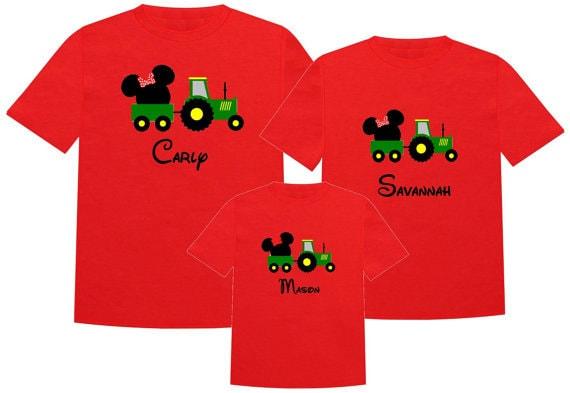 685b2805 Disney Shirt GREEN TRACTOR Disney Vacation Disney Group Shirts | Etsy