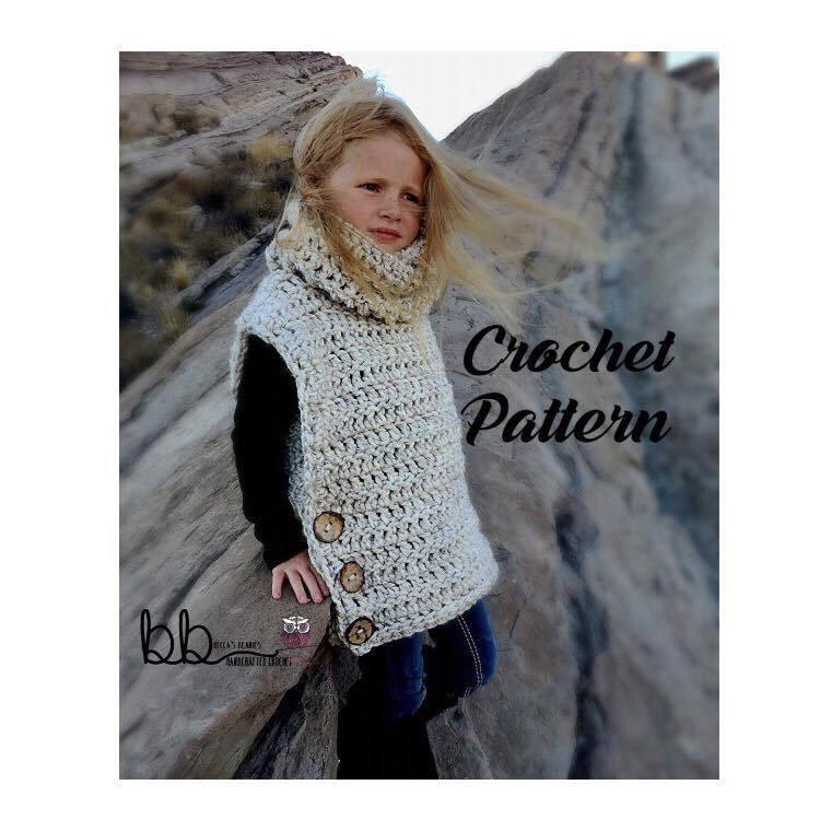 Vasquez Pullover Vest Pattern Only Crochet Sizes Etsy