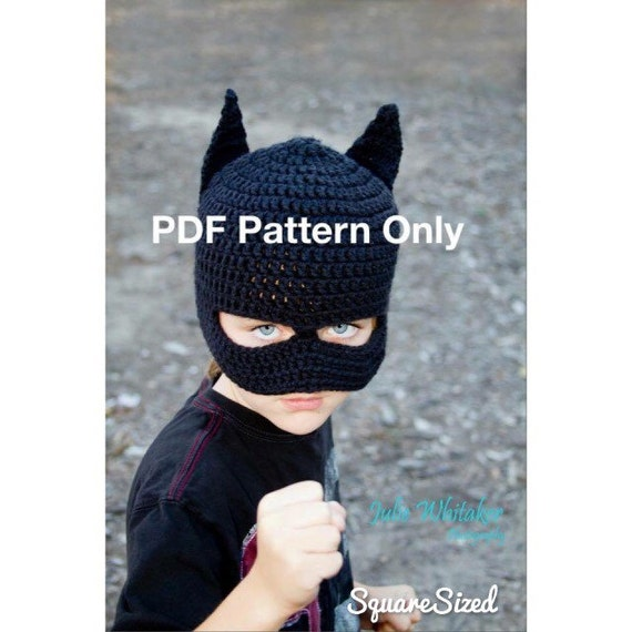 Batman Beanie With Or Without Mask Pattern Only Crochet Etsy
