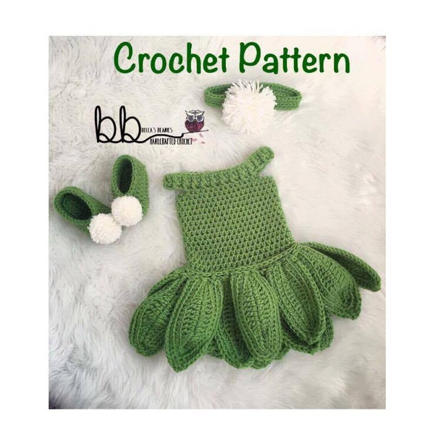 Tinkerbell Set Pattern Only Crochet Sizes 0 3 Month Etsy