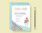 Ice Cream Party Invitatio...