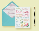 Fruit Themed Party Invite...