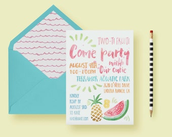 Fruit Themed Party Invite